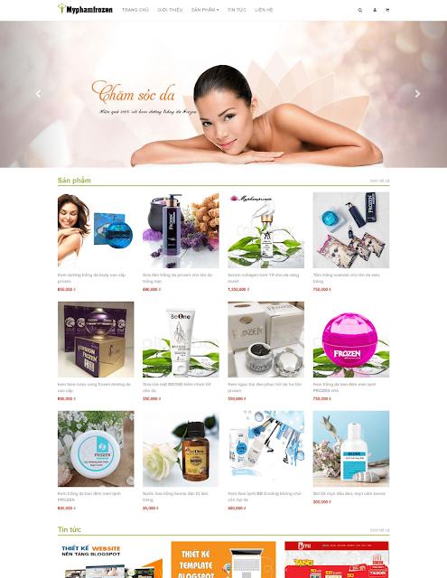 Template blogspot bán hàng mỹ phẩm đẹp 2020