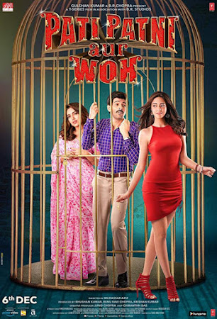 Poster Of Bollywood Movie Pati Patni Aur Woh 2019 300MB Pdvd Full Hindi Movie