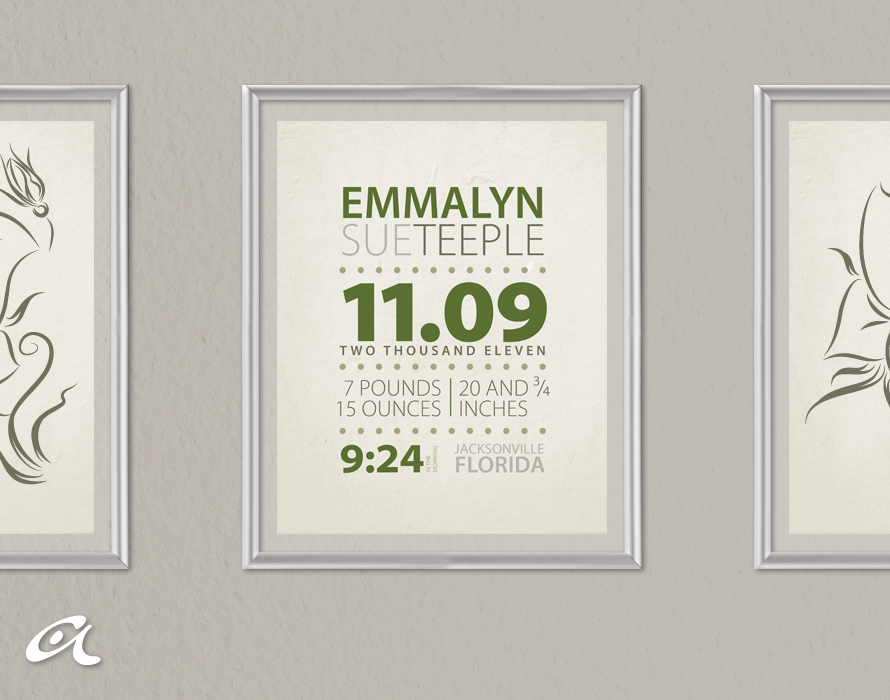 Andrea Arch: DIY: Birth announcement/statistics wall art