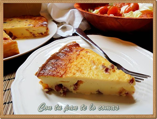 Pastel de quesitos y jamon serrano