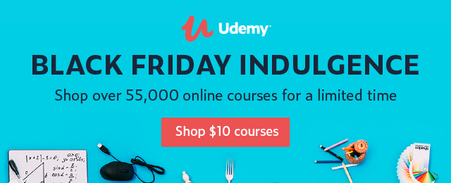 Take an online course from $10!