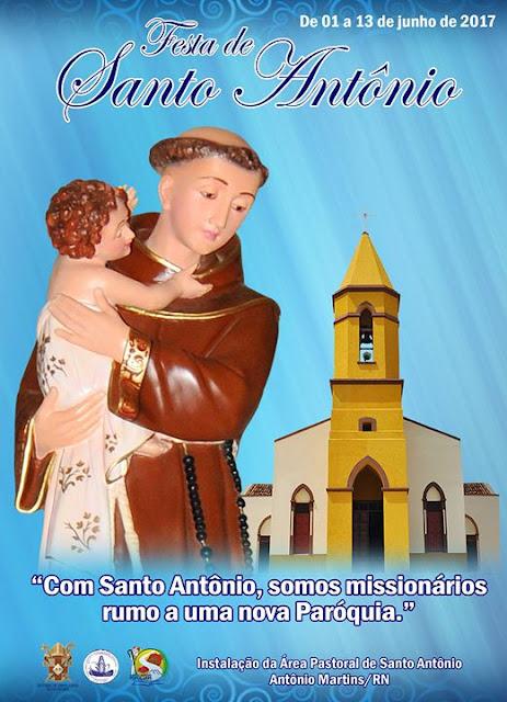 Resultado de imagem para igreja santo antonio antonio martins rn