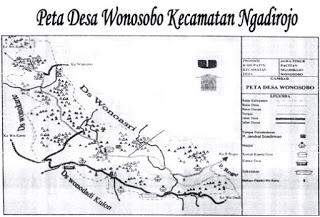 Peta Desa Wonosobo Ngadirojo Pacitan