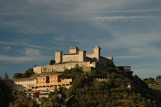 La Rocca Albornoziana occupies a commanding position overlooking the Umbrian town of Spoleto