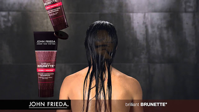 Shampooing Brun Plus Profond Visibly Darker - Brilliant Brunette - John Frieda