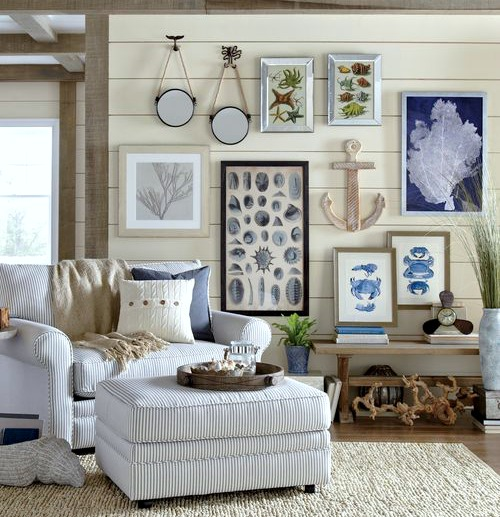 Living Room Decor Inspiration From Wayfairs Coastal Designer Rooms | Shop The Look - Coastal Decor Ideas Interior Design DIY Shopping
