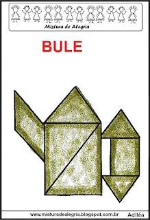 tangram desenho de bule