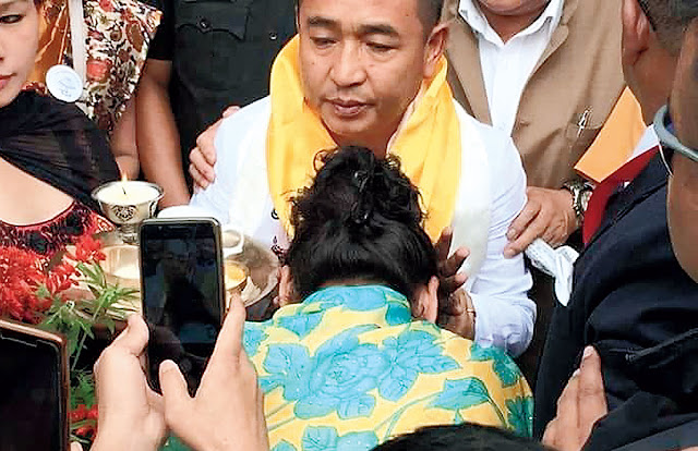 Sikkim Krantikari Morca president P. S. Golay walked out of jail