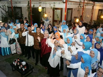 Buka puasa bersama HIMPAUDI Kota Bandung dengan Yossi Irianto