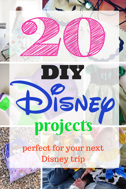 20 easy Disney DIY costumes, projects and crafts you must try.  These simple projects will make your last minute Disney adventure easy and more memorable.
