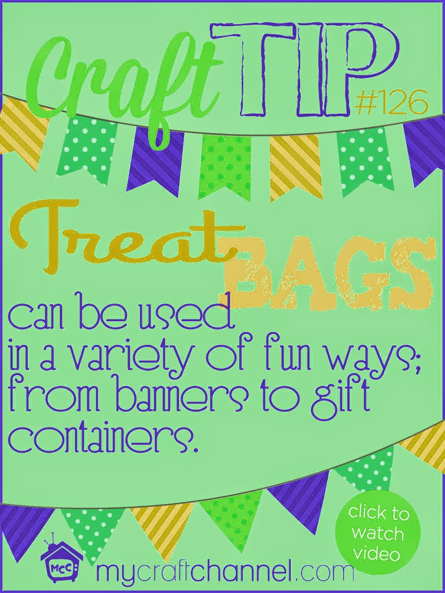 my craft channel craft tips ways with treat bags 2525