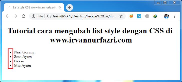 list style type square - #irvangen