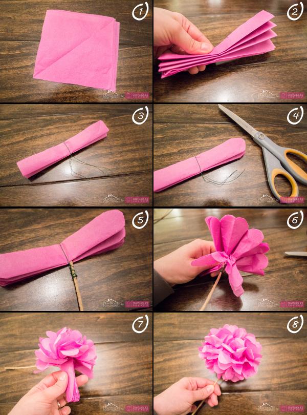 2 diy para hacer flores con papel diariodeco - Como se hacen rosas de papel ...