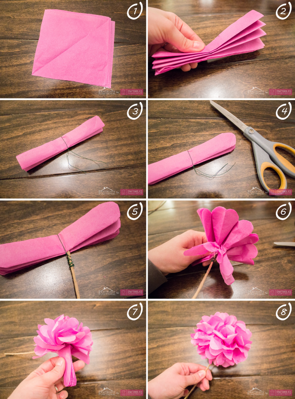 2 diy para hacer flores con papel diariodeco - Como se hacen flores de papel ...