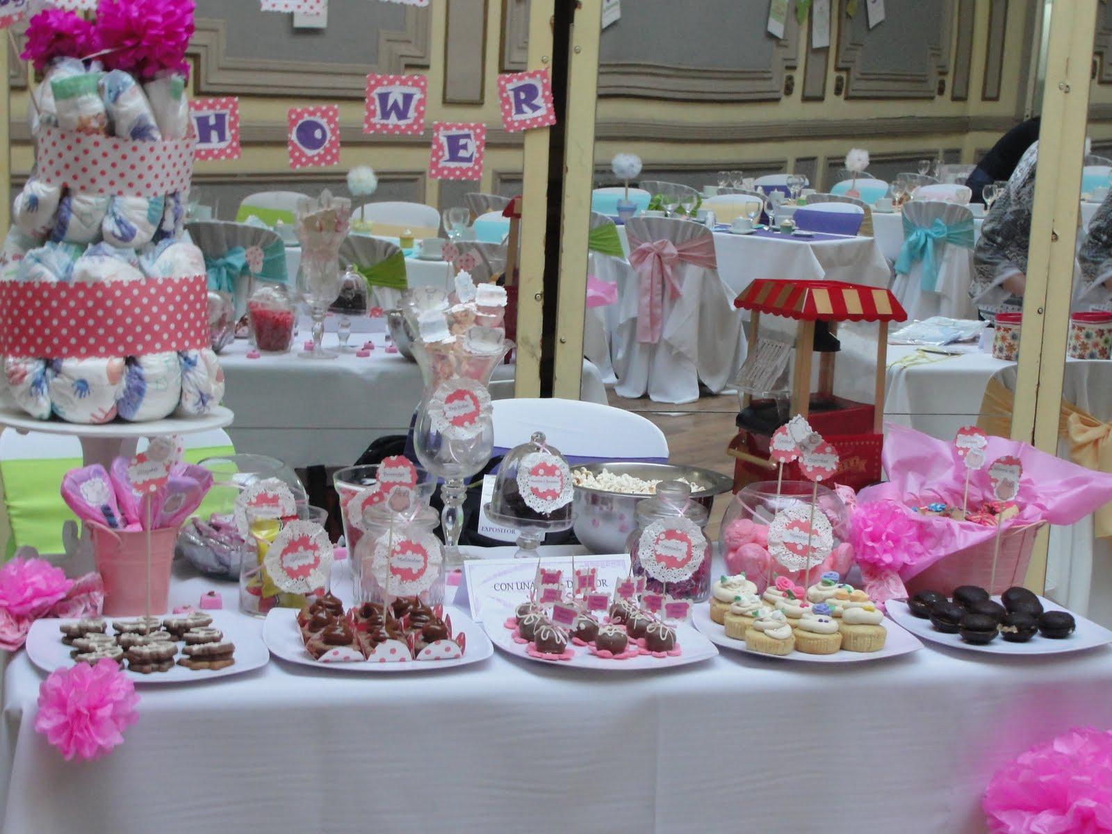 Mesa dulce para baby shower rosa en esta ocaci n - Mesas dulces para ninas ...