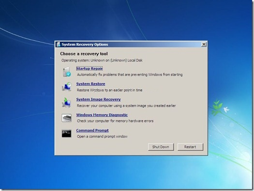 How to run a Startup Repair on Windows 7