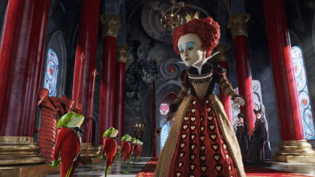 Red Queen Alice in Wonderland 2010 animatedfilmreviews.blogspot.com