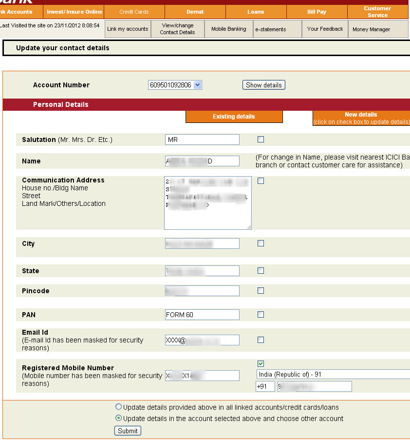 Icici Bank Personal Loan Account Statement