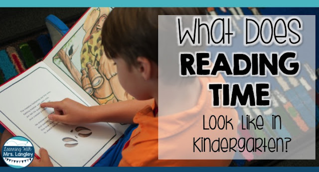 What does reading time look like in your  kindergarten or first grade classroom? We use a Daily 5 Read to Self model and I couldn't love it more! See pictures of what student work looks like and why teachers love this model.