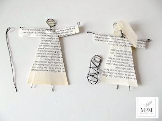 decorare maria, giuseppe e gesù con la carta