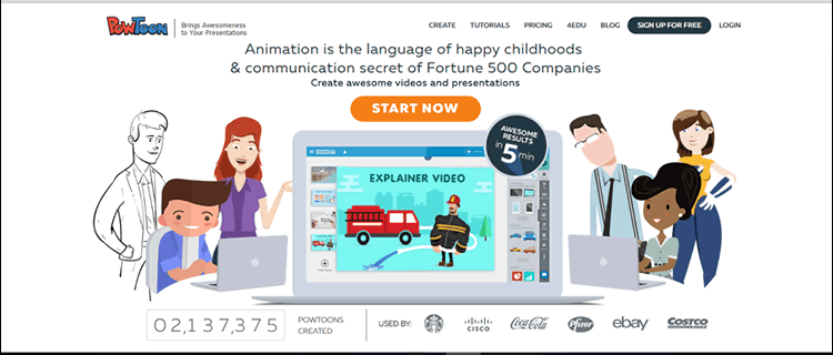 PowToon is a video presentation tool for business marketing