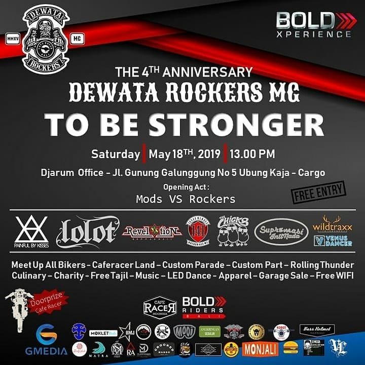 """DEWATA ROCKERS MG Present :  The 4TH Anniversary """"To Be Stronger """""""