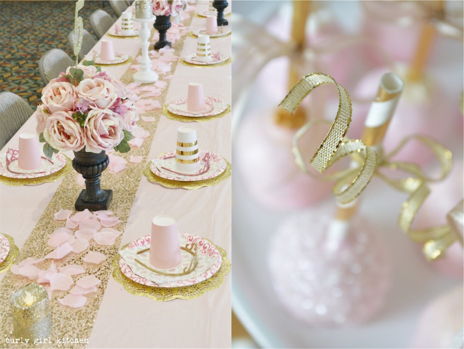 Curly Girl Kitchen Pink And Gold Princess Party Cake