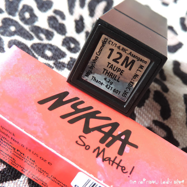 Nykaa So Matte Lipstick in Taupe Thrill