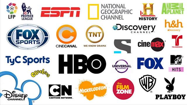 Logotipos de algunos de los canales de pago