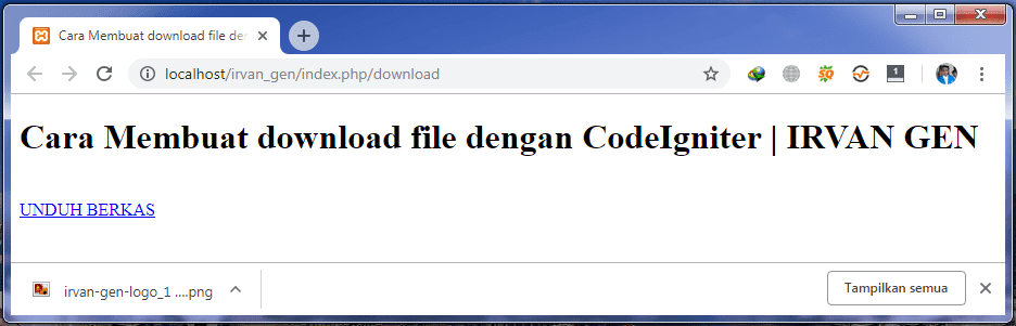 download file dengan codeigniter - #IRVANGEN