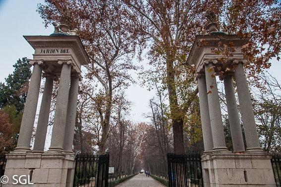 Entrada al jardín del principe. Aranjuez. Madrid