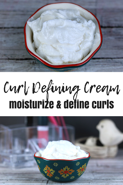How to make a DIY curl cream recipe for curly hair and for wavy hair. This easy homemade curl cream has shea butter, coconut oil, and aloe vera gel so it's lightweight and won't weigh down your hair. This is for curly hair diy curl cream to define curls.  Make a DIY natural homemade curl cream for DIY hair care. This is the best recipe I've made for homemade diy hair care. #curlcream #diy #sheabutter #curlyhair