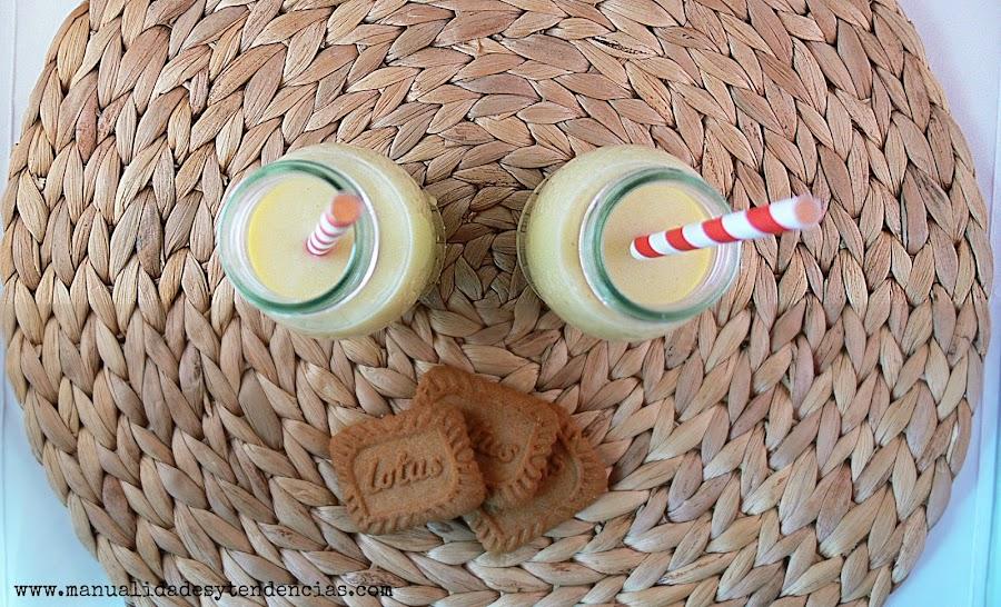 Receta de smoothie de mango, plátano y leche fermentada