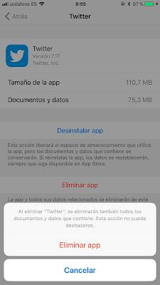Borrar los datos y cache de las aplicaciones