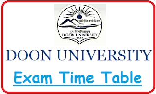 Doon University Time Table 2020