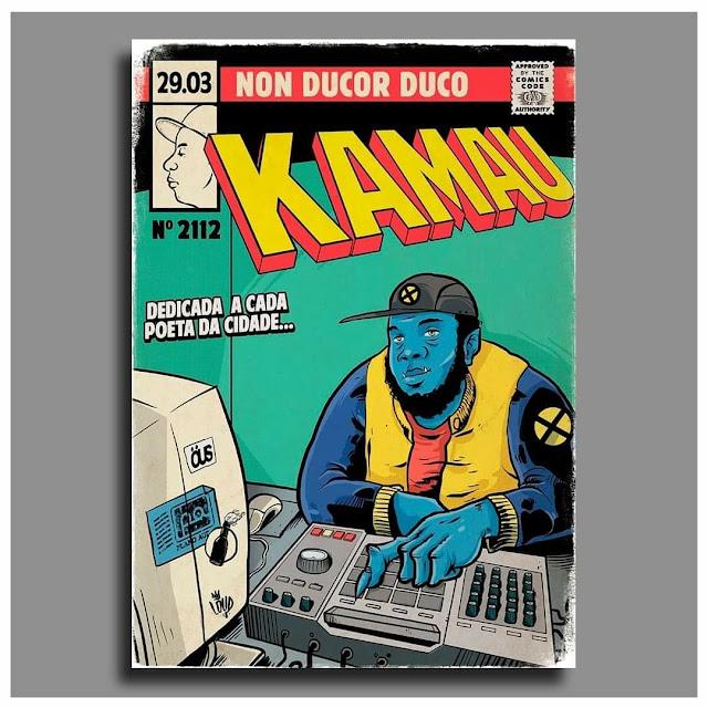 Rap em quadrinhos - Kamau é retratado como o Fera (X-Men)