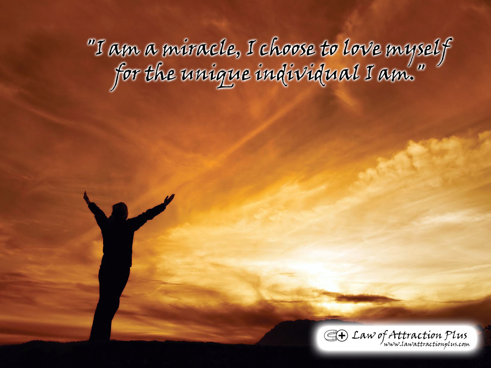 I Am A Miracle Choose To Love Myself For The Unique Individual Wallpaper Decree