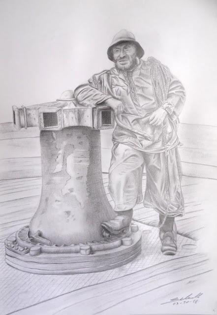 portrait dessin pêcheur vieux loup de mer