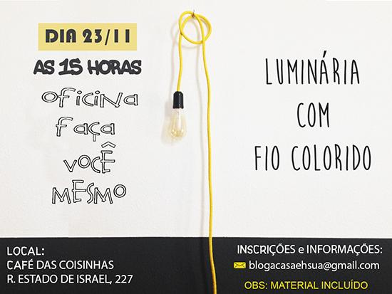 luminária com fio colorido, luminária, faça você mesmo, diy, lamp, home decor, decor, decoração