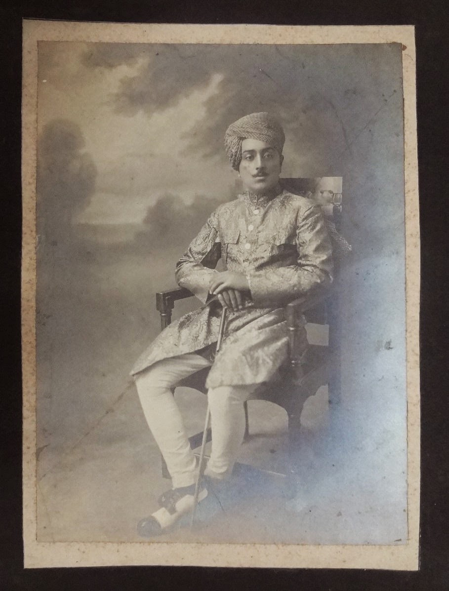 Indian Aristocratic Man Sitting on a Chair