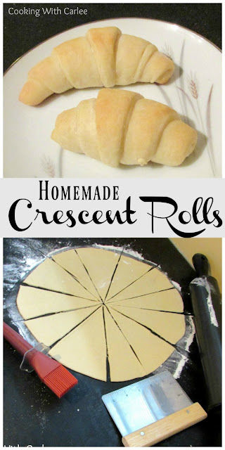 Soft, slightly sweet crescent rolls are easy to make from scratch. They are perfect for the holidays or just because. Make a batch and fall in love!