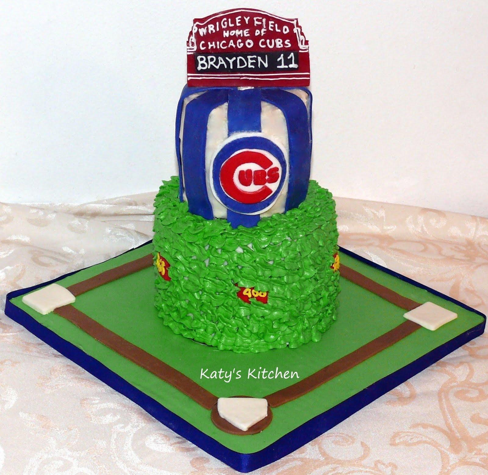 Katys Kitchen Chicago Cubs Cake