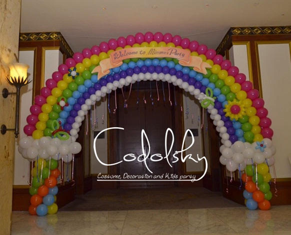 Dekorasi Balon Gate Ulang tahun anak