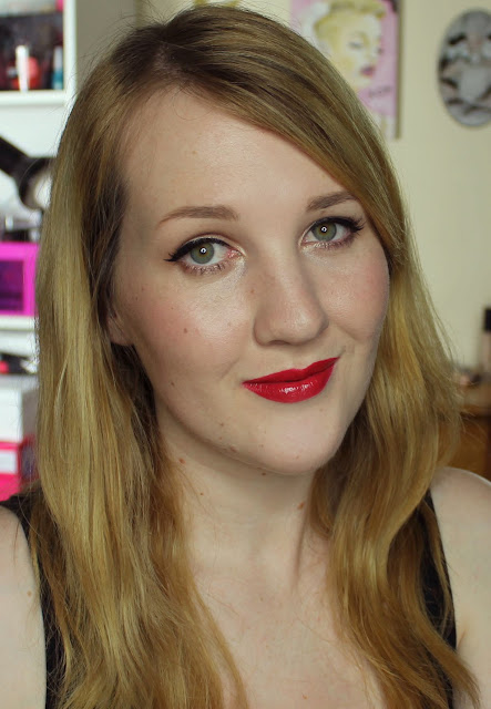 LA Girl Glazed Lip Paint - Pin-Up Swatches & Review