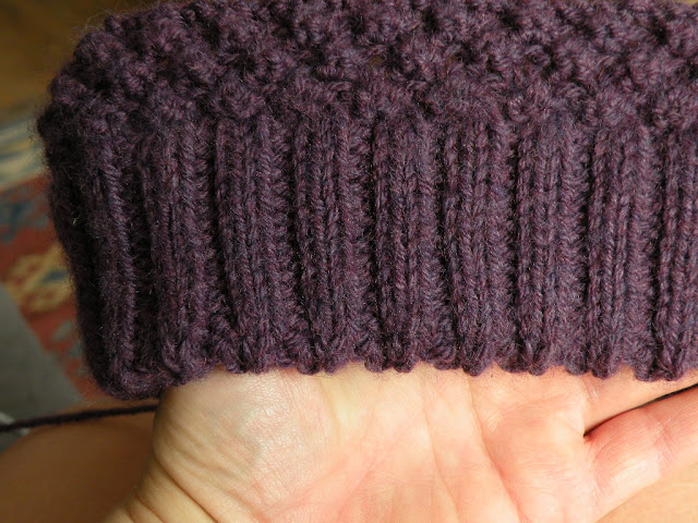 Just Skirts and Dresses  On my needles - Trinity Blackberry stitch hat 720de630bb3