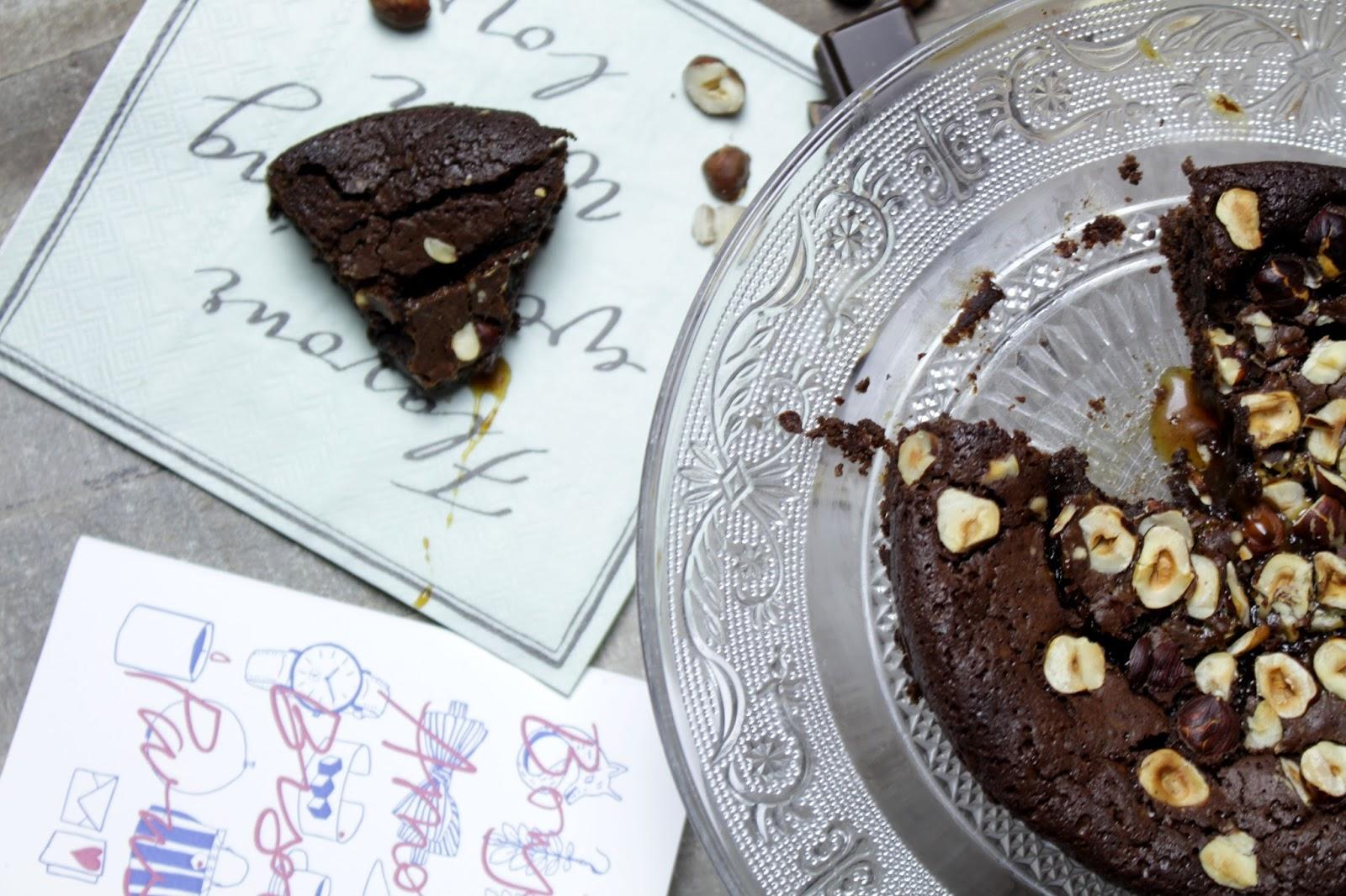 Gâteau Choco Noisettes & Caramel Beurre Salé