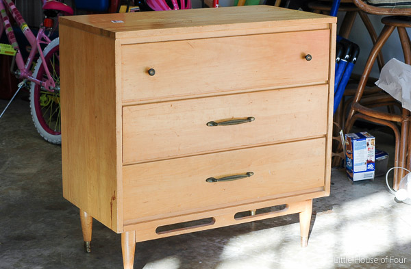 A $15.00 Goodwill dresser gets a beautiful Mid Century Modern Makeover