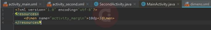 Script Dimen.xml Two Activities