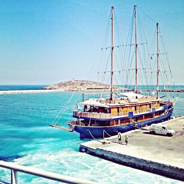 Naxos island port