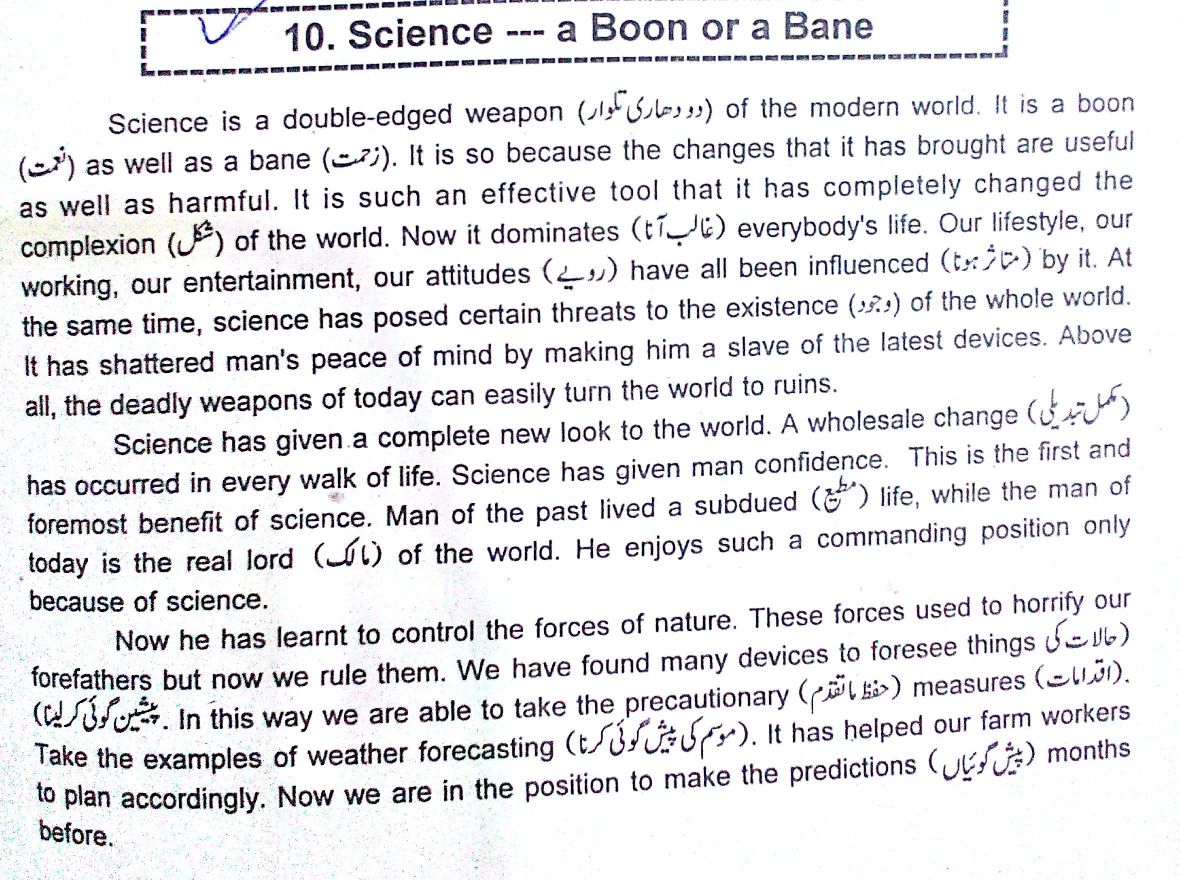 Science is a Boon or Bane important Essay for Students
